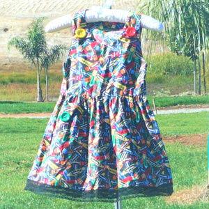 No tag looks hand made cute Crayola dress 5t-6